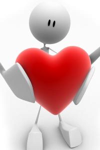 witte-iphone-achtergronden-poppetje-met-rood-liefdes-hartje-3d-iphone-wallpapers